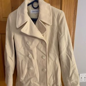 TAN CALVIN KLEIN TRENCH COAT